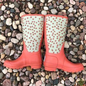 Hunter Kids Festi Floral Rain Boots rubber